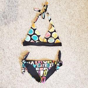 Roxy Multi-Coloured Neon Reversible Bikini (M/L)